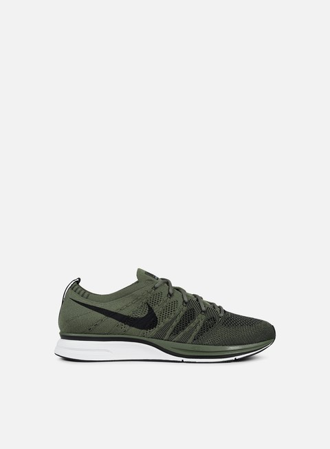 sneakers nike flyknit trainer medium olive black white