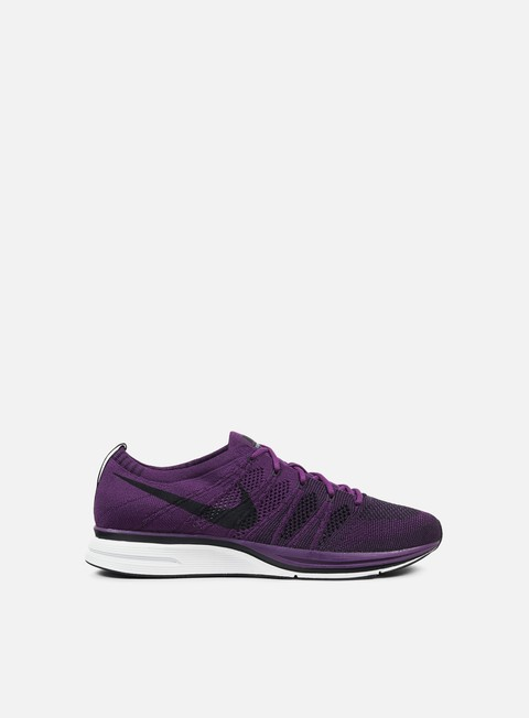 sneakers nike flyknit trainer night purple black white