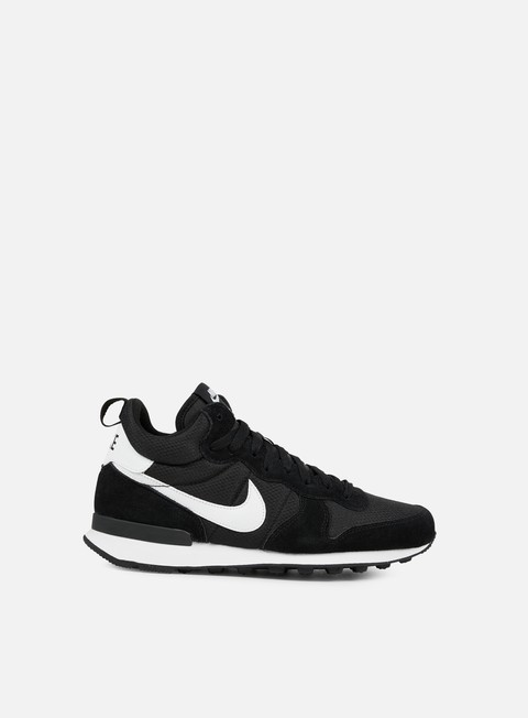 sneakers nike internationalist mid black white wolf grey