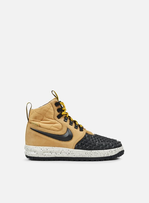 sneakers nike lunar force 1 duckboot 17 metallic gold black light bone