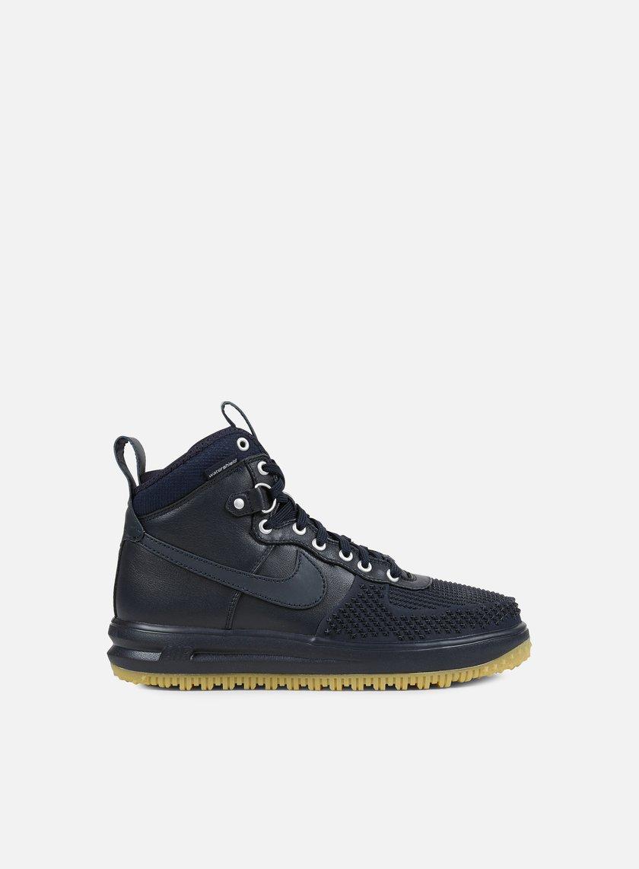 Nike - Lunar Force 1 Duckboot, Dark Obsidian/Dark Obsidian