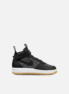 Nike - Lunar Force 1 Flyknit Workboot, Black/White/Wolf Grey 1