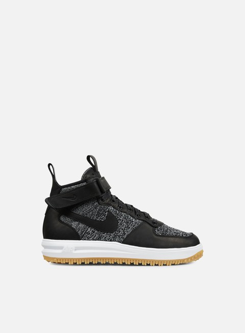 sneakers nike lunar force 1 flyknit workboot black white wolf grey