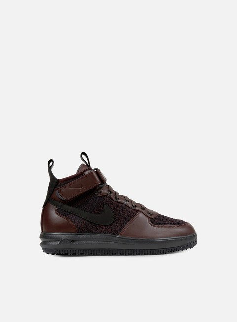 sneakers nike lunar force 1 flyknit workboot deep burgundy black