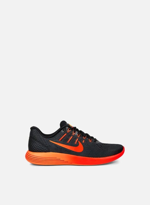 sneakers nike lunarglide 8 black multicolor team red