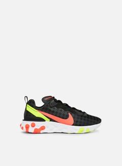 Nike - React Element 55, Black/Flash Crimson/Hyper Crimson/Volt