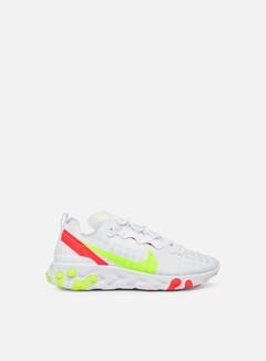 Nike - React Element 55, White/Volt/Flash Crimson