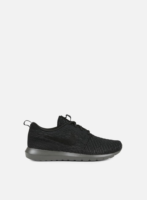 sneakers nike roshe nm flyknit black black midnight fog