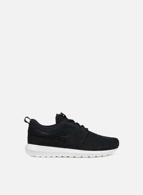 sneakers nike roshe nm flyknit black black white