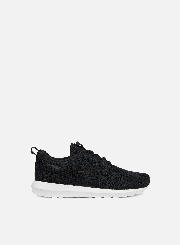Nike - Roshe NM Flyknit, Black/Black/White