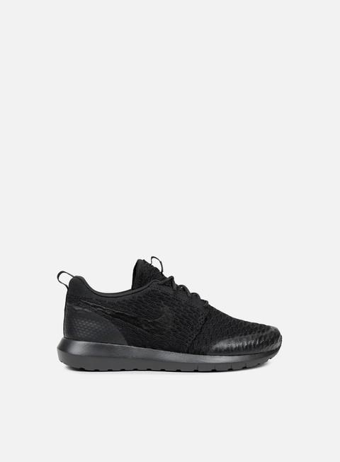 sneakers nike roshe nm flyknit se black black