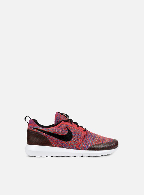 sneakers nike roshe nm flyknit se bright crimson black green strike