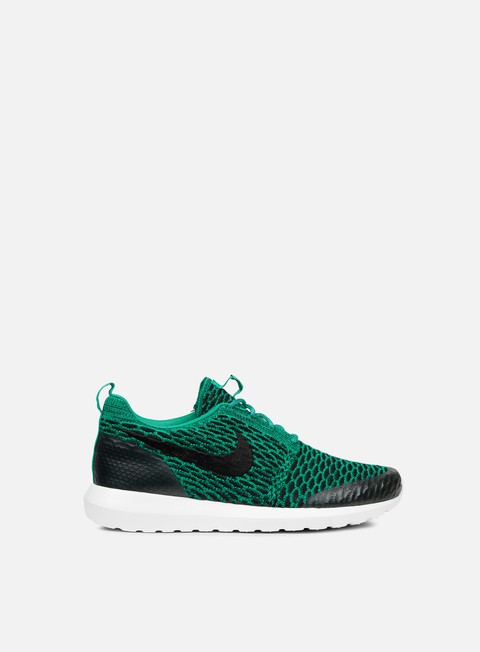 sneakers nike roshe nm flyknit se lucid green black white