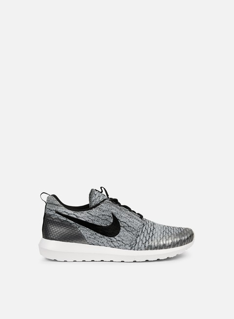 sneakers nike roshe nm flyknit se wolf grey black white