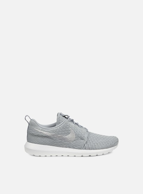 sneakers nike roshe nm flyknit wolf grey wolf grey white
