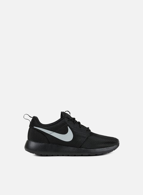 sneakers nike roshe one black matte silver