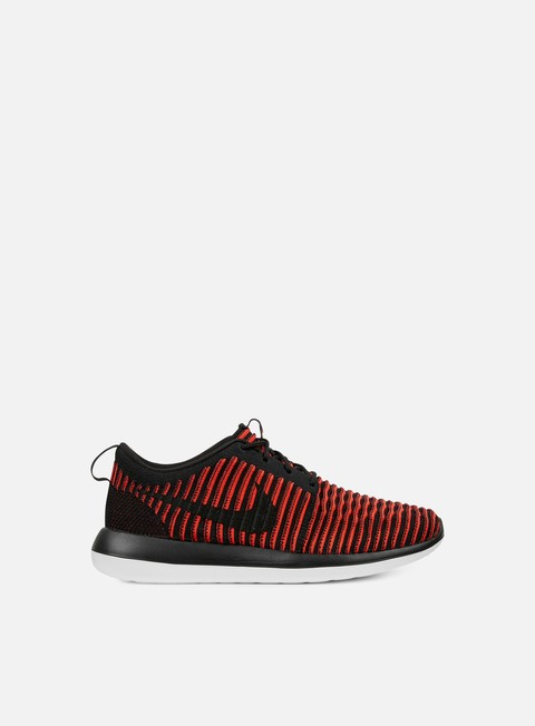 sneakers nike roshe two flyknit black black bright crimson