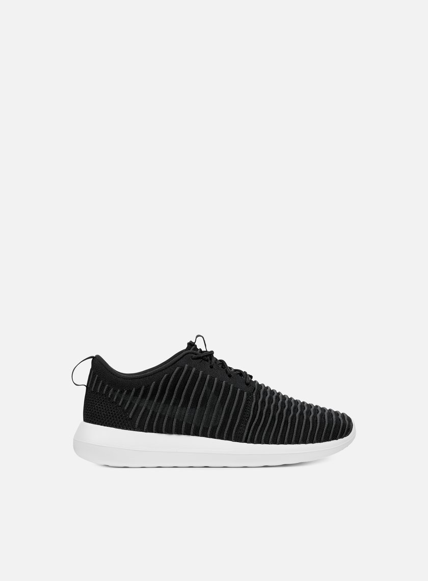 Nike - Roshe Two Flyknit, Black/Dark Grey/White