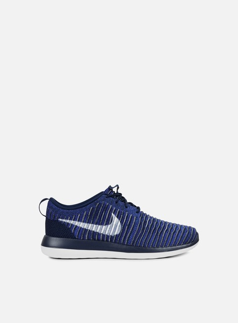 sneakers nike roshe two flyknit college navy white