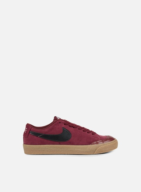 sneakers nike sb blazer zoom low xt dark team red black gum light brown