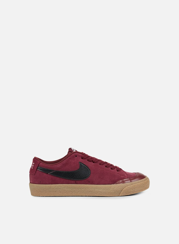Nike SB - Blazer Zoom Low XT, Dark Team Red/Black/Gum Light Brown
