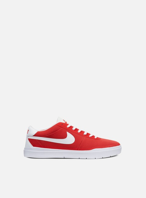 sneakers nike sb bruin hyperfeel canvas track red white white