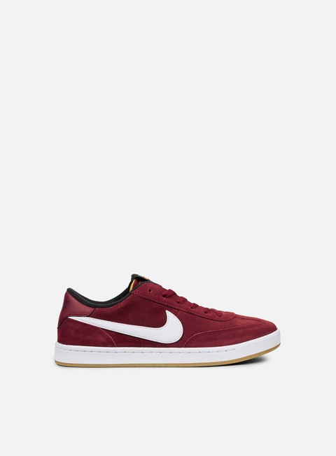 sneakers nike sb fc classic team red white black