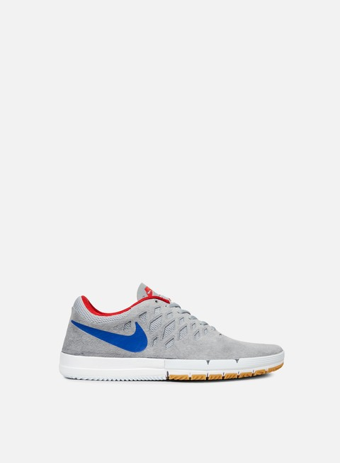 sneakers nike sb free sb wolf grey game royal university red