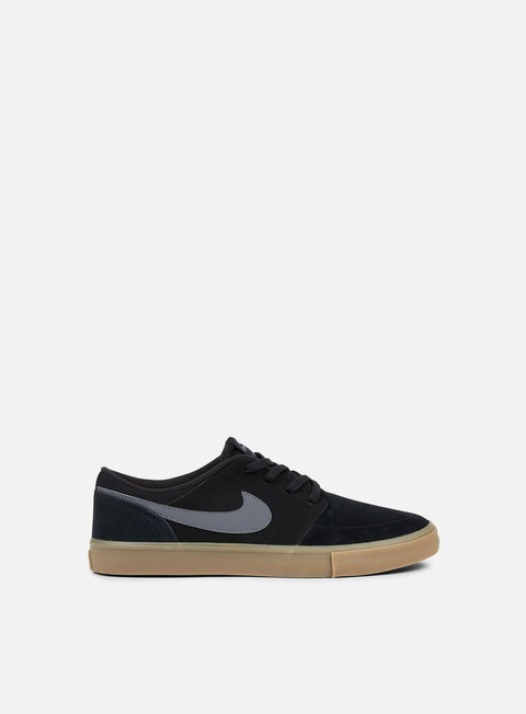 sneakers nike sb portmore ii solar black dark grey gum light brown