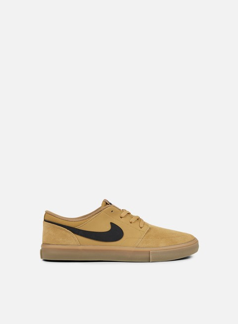 sneakers nike sb portmore ii solar golden beige black gum light brown