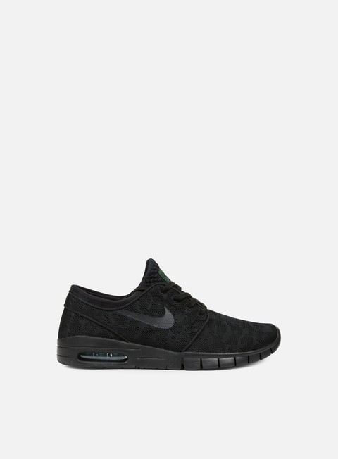 sneakers nike sb stefan janoski max black black pine green