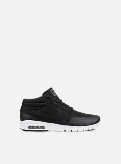 Nike SB - Stefan Janoski Max Mid, Black/Black/Metallic Silver 1