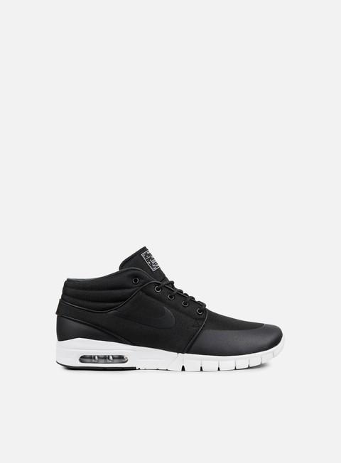 sneakers nike sb stefan janoski max mid black black metallic silver