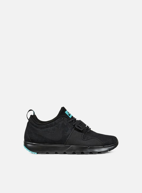 sneakers nike sb trainerendor black black clear jade