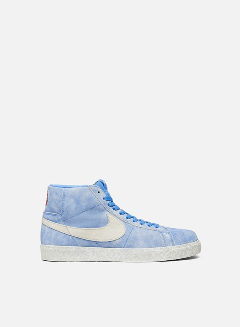 sneakers nike sb zoom blazer mid university blue light bone
