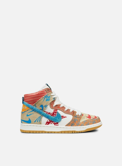 sneakers nike sb zoom dunk high premium iced jade circuit orange sail