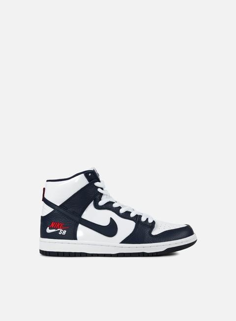 sneakers nike sb zoom dunk high premium obsidian obsidian white