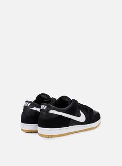Nike SB - Zoom Dunk Low Pro, Black/White/Gum Light Brown 3