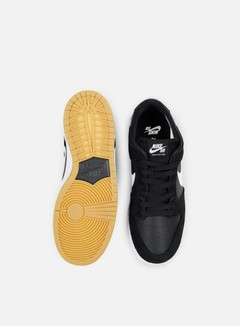 Nike SB - Zoom Dunk Low Pro, Black/White/Gum Light Brown 4