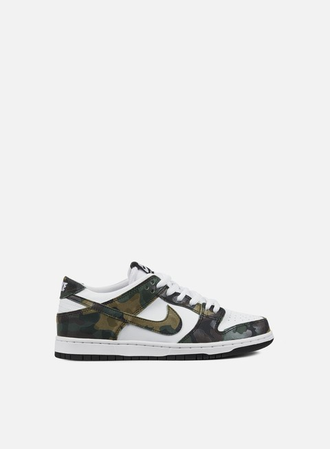sneakers nike sb zoom dunk low pro camo legion green legion green