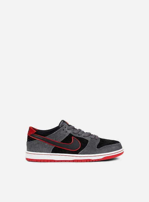 sneakers nike sb zoom dunk low pro dark grey black university red