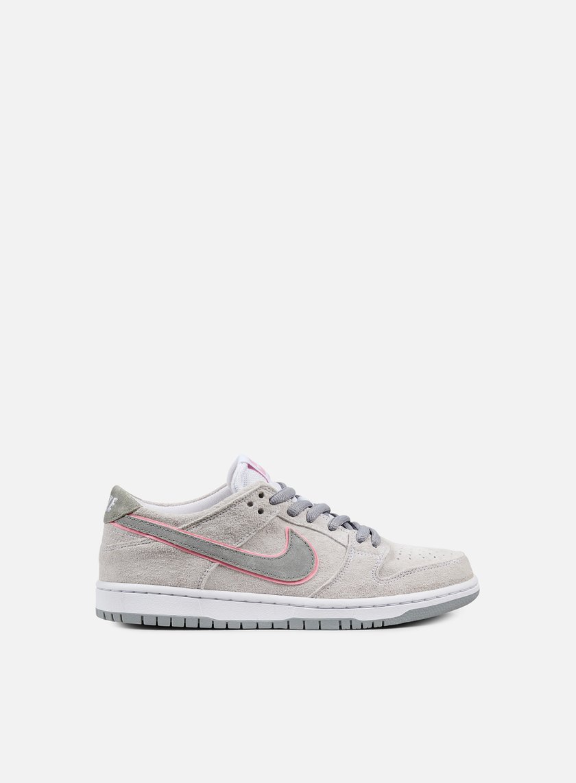 Nike SB - Zoom Dunk Low Pro Ishod Wair, White/Perfect Pink/Flat Silver