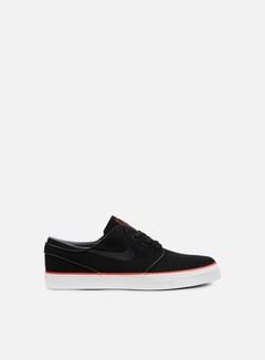 Nike SB - Zoom Stefan Janoski CNVS, Black/Black/Max Orange 1