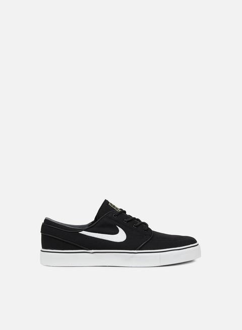 sneakers nike sb zoom stefan janoski cnvs black white gum light brown