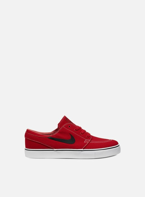 sneakers nike sb zoom stefan janoski cnvs university red black gum light brown