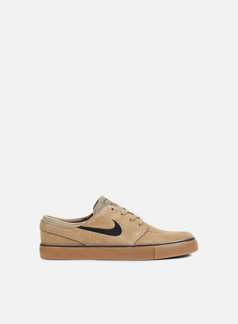 sneakers nike sb zoom stefan janoski khaki black gum light brown