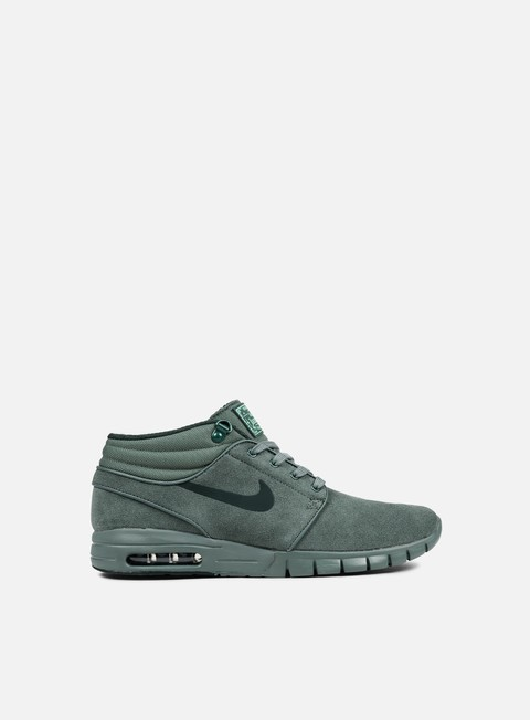 sneakers nike sb zoom stefan janoski max mid l hasta seaweed green glow