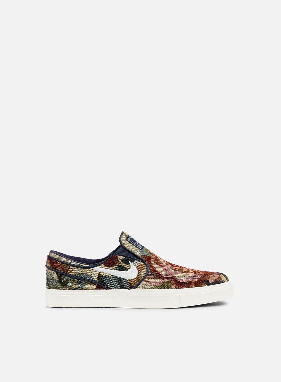 Nike SB - Zoom Stefan Janoski Slip CNVS, Multicolor/White/Ivory