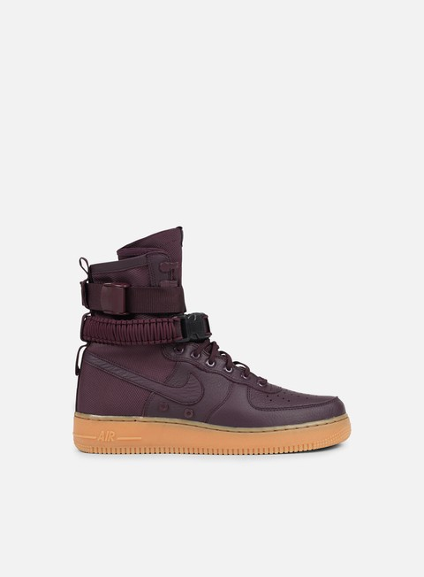 sneakers nike sf air force 1 deep burgundy deep burgundy