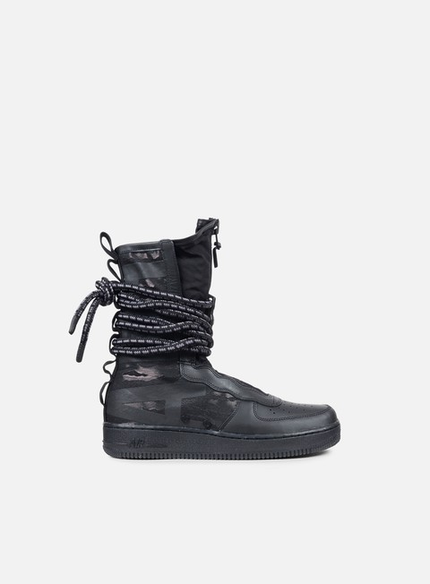 sneakers nike sf air force 1 hi black black dark grey